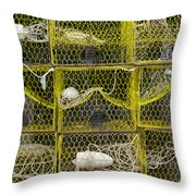 Crab Pots Throw Pillow