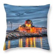 Crab Shack Seafood Restaurant Throw Pillow