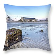 Crab Trap Washed Ashore Throw Pillow