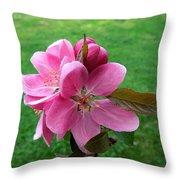 Crabapple Portrait Throw Pillow