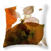 Crabapple Rose I Throw Pillow
