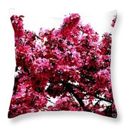Crabapple Tree Blossoms Throw Pillow