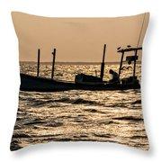 Crabbing On The Bay Throw Pillow