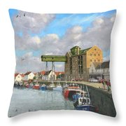 Crabbing - Wells-next-the-sea Norfolk Throw Pillow