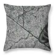 Crack In The Pavement Throw Pillow