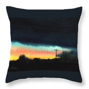 Crack Of Dawn. Throw Pillow