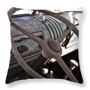 Cracked And Faded Throw Pillow