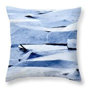 Cracked Icescape Throw Pillow