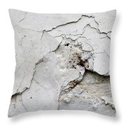 Cracked Stucco - Grunge Background Throw Pillow