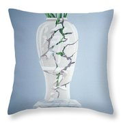 Cracked Urn Throw Pillow by Lincoln Seligman
