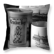 Cracker Boy Coffee Throw Pillow