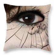 Cracking Up Throw Pillow