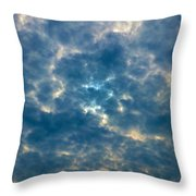Crackled Sky Throw Pillow