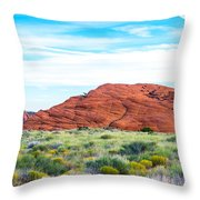 Cracks In The Hills Throw Pillow