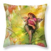 Cradle Your Heart Throw Pillow