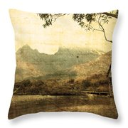 Cradled By Time Throw Pillow