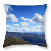Craggy Gardens Draped In Clouds Throw Pillow