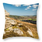 Crags Over Rothbury Throw Pillow