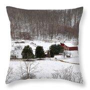 Craig County Farm Throw Pillow
