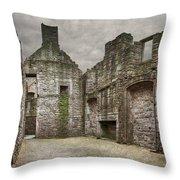Craigmillar Castle Ruin Edinburgh Throw Pillow