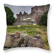 Craigmillar Castle Ruin Throw Pillow