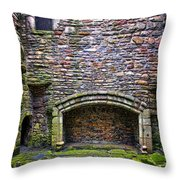 Craigsmillar Castle Kitchen Fireplace Throw Pillow