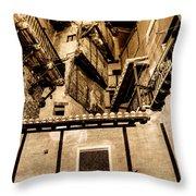 Crammed Floors In Albarracin Throw Pillow