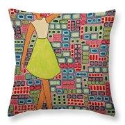 Cranberry Ballet Throw Pillow
