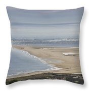 Crane Beach Mid May Throw Pillow