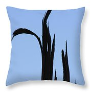 Crane Wood Throw Pillow