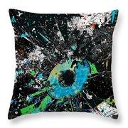 Crash Of The Eye Galaxy Throw Pillow