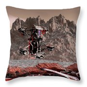 Crash Site Located Throw Pillow