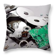 Crashed Throw Pillow
