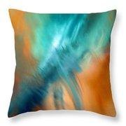 Crashing At Sea Abstract Painting 4 Throw Pillow
