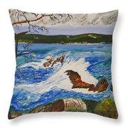 Crashing Wave Throw Pillow by Eric Johansen