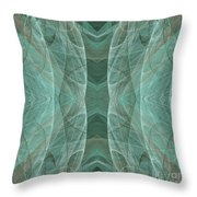 Crashing Waves Of Green 4 - Square - Abstract - Fractal Art Throw Pillow
