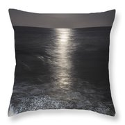 Crashing With The Moon Throw Pillow