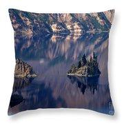 Crater Lake 2 Throw Pillow