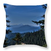 Crater Lake 3 Throw Pillow