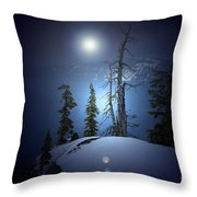 Crater Lake Midnight Oregon Throw Pillow