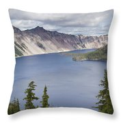 Crater Lake Or 10 Throw Pillow