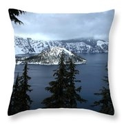 Crater Lake Oregon Throw Pillow