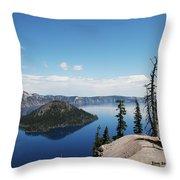 Crater Lake Oregon Throw Pillow