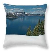 Crater Lake Panorama Throw Pillow
