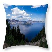 Crater Lake Pnorama - 2 Throw Pillow