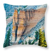 Crater Lake Pumice Castle Throw Pillow