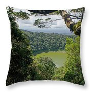 craterlake in Montagne d'Ambre National Park Madagascar Throw Pillow