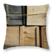 Crates At The Orchard 2 Throw Pillow