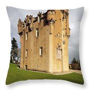 Crathes Castle Throw Pillow