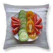 Craving For Fresh Vegetables Throw Pillow